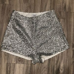 Sequin shorts- perfect for VEGAS